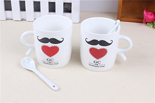 Buyneed Set Of 2 Mr. And Mrs. Coffee Or Tea Mugs Gift Box Marriage Wedding Love Couple