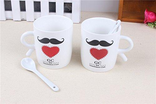 Buyneed Set Of 2 Mr. And Mrs. Coffee Or Tea Mugs Gift Box Marriage Wedding Love Couple
