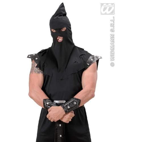 Black Executioners Hood Medieval Executioner Fancy Dress