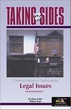 Taking Sides Clashing Views on Legal Issues by Katsh