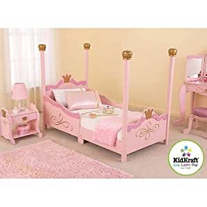 For girls princess toddler pink bed a cute for Bedroom furniture amazon