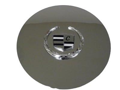Set of 4 Otis Inc LA Cadillac Escalade Chrome Wheel Center Cap with Chrome Wreath and Crest