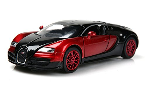 Bugatti Veyron 1:32 Alloy Diecast car model collection light&sound Red with color packaging ,Toys for Kids & Child (Bugatti Veyron Model Car compare prices)