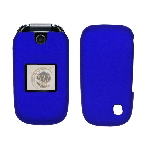 AT&T ZTE Z221 Rubberized Hard Case Cover - Blue