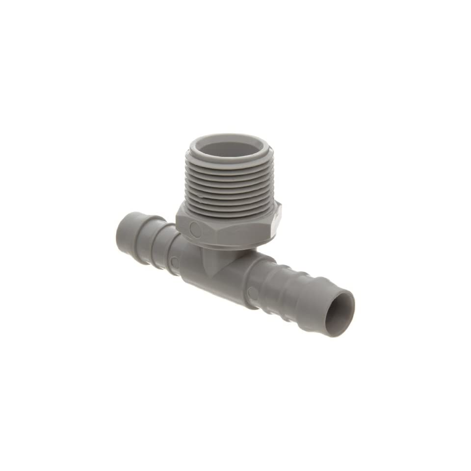Tee Adapter Tefen Nylon 66 Hose Fitting Seelye Acquisitions 12257110123 Pack of 5 5//8 Hose ID x 3//4 NPT Male x 5//8 Hose ID Gray 5//8 Hose ID x 3//4 NPT Male x 5//8 Hose ID Pack of 5