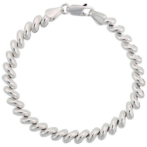 Sterling Silver Baby San Marco Necklace Italian 1/4 inch wide, 18 inch long