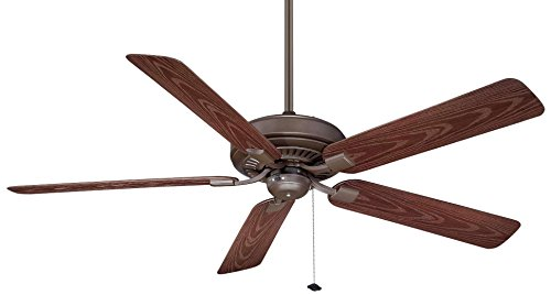 Fanimation Tf971Ob Edgewood Ceiling Fan With Dark Cherry Finish Blades , 60-Inch, Oil Rubbed Bronze Finish