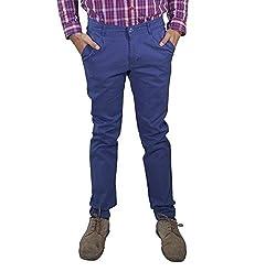 Rollister Men's Casual Pants (0094ii_Blue_36)