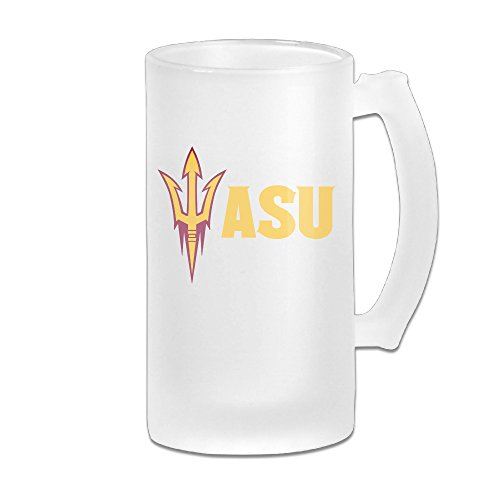 RCINC Arizona ASU Logo State University Beer Glass Frosted White 16-Ounce Mug (Doc Mcstuffins Toaster compare prices)