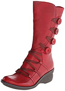 Miz Mooz Women's Olsen Boot, Red, 38 BR/8.5 M US