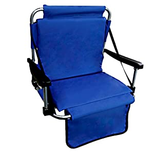 Blue Stadium Chair With Back
