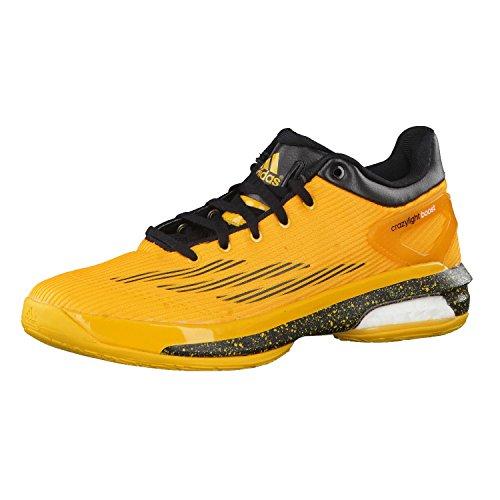 adidas Crazylight Boost Scarpa da Pallacanestro Bassa Uomo, Oro/Nero, 47 1/3
