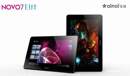 Ainol NOVO 7 Elf - Android 4.0 (Ice Cream Sandwich) Tablet PC Allwinner A10 1.2ghz - 5-point Multi-touch Capacitive Screen - 1.3mp Camera