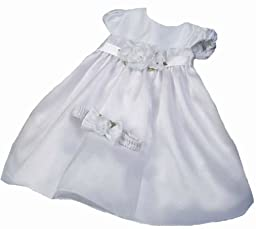 KID Collection Baby-Girls Flower Princess Dress 6M Sm White (Kid B776)