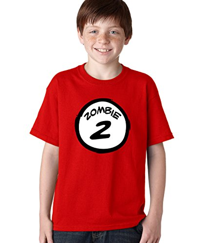 Youth Zombie TWO T Shirt Funny Halloween Group Costume Zombies Tee For Kids