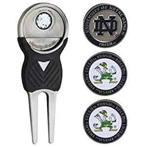 Notre Dame University Golf Divot Tool w  Three Double Sided Ball by Team Golf