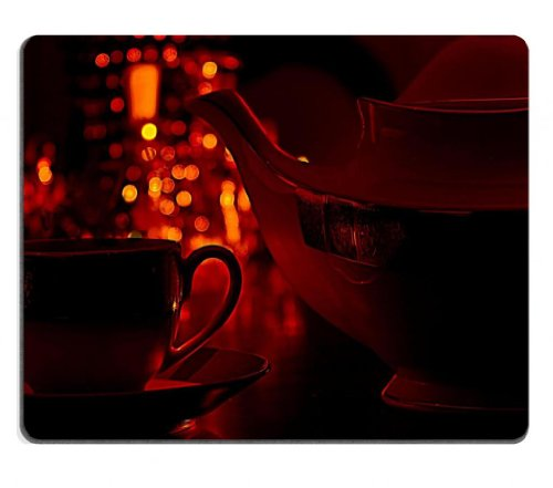Coffee Cup Pot Romantic Light Mouse Pads Customized Made To Order Support Ready 9 7/8 Inch (250Mm) X 7 7/8 Inch (200Mm) X 1/16 Inch (2Mm) High Quality Eco Friendly Cloth With Neoprene Rubber Msd Mouse Pad Desktop Mousepad Laptop Mousepads Comfortable Comp front-168093