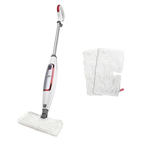 Shark Digital 2-Speed Steam Pocket Mop for Hard Floors, White and Red | S3455K (Large Steam Mop compare prices)