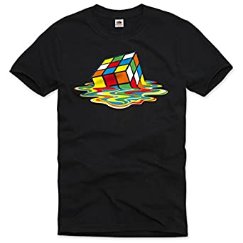 style3 Sheldon Cube Homme T-Shirt rubik big bang theory the tbbt rubik's penny, Taille:S;Couleur:Noir