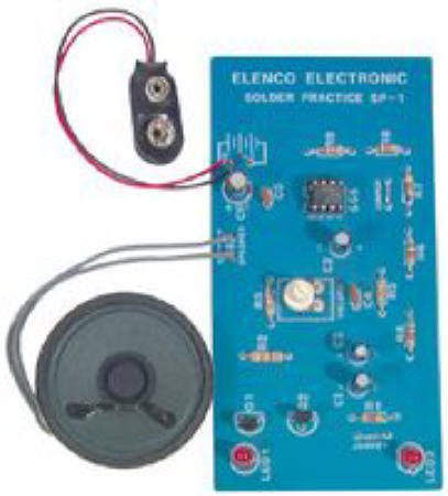 Elenco Solder Practice Kit Achieve Good Soldering Techniques Familiar With Electronic Components  available at amazon for Rs.3192