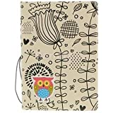 Alcoa Prime Cute Owl Passport ID Card Protector PVC Leather Holder For UK US Passport