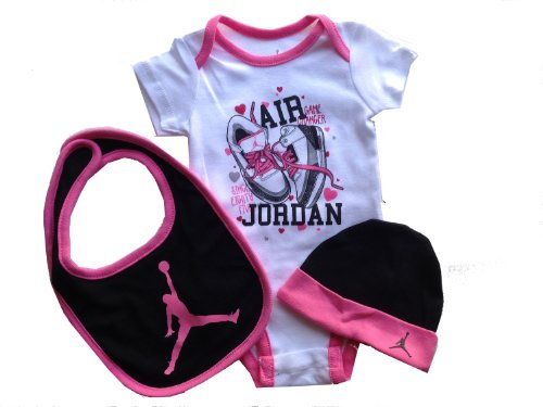 Jordan Infant Bodysuit/ Layette 3Pcs Set+3.5Mm Anti Dust Plug For Cellphone/Ipad/Mp3 (0-3Months)