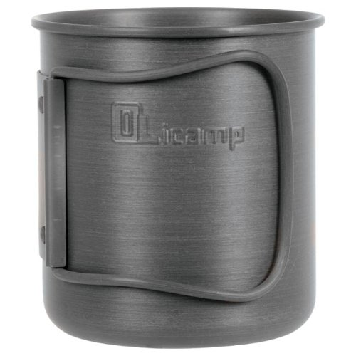 Olicamp Hard Anodized Space Saver Mug (Black
