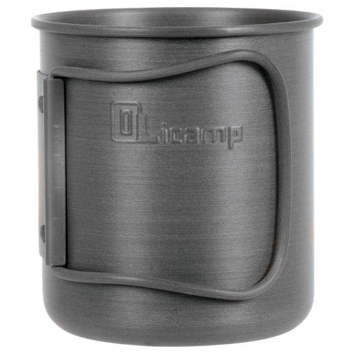 Olicamp Hard Anodized Space Saver Mug (Black