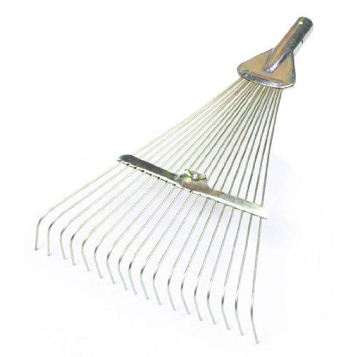 Amico Gold Tone 18 Tine Cultivator Rake Gardening Tool Trowel Fork Head