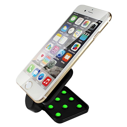 Qcute Portable Universal Multi-functional Double-sided Suction Cup Phone Mount for Apple iPhone 6 (4.7inch) 6 plus (5.5 inch)4 / 5S / 5 Samsung Galaxy S6 S6 Edge /S5 S4 S3 S2 / Note 4 3 2 HTC ONE Sony Xperia LG G2/G3 (Green)