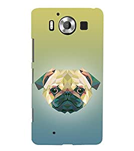 Dog 3D Doggy Puppy 3D Hard Polycarbonate Designer Back Case Cover for Nokia Lumia 950 :: Microsoft Lumia 950