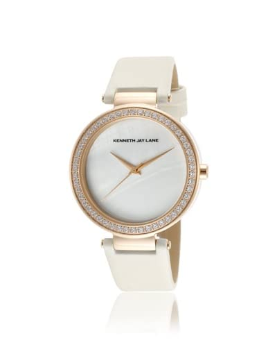 Kenneth Jay Lane Women's 2606S-016 2600 Series White Mother of Pearl Watch