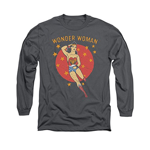 Wonder Woman DC Comics Superhero Wonder Circle Adult Long-Sleeve T-Shirt
