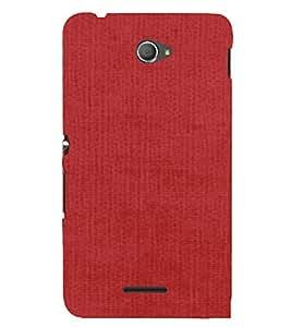 PrintVisa Watermelon Red Canvas Design 3D Hard Polycarbonate Designer Back Case Cover for Sony Xperia E4 Dual