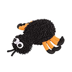 Zanies Freaky Squeaky Dog Spider Toy, Small, 11-3/4-Inch