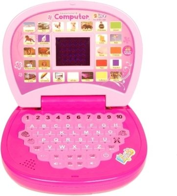 Homeshopeez Kids English Learner Mini Laptop-D(Multicolor)
