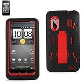 Kingdom Hybrid Case with KickStand for HTC Evo Design 4G - Red