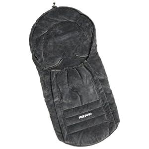 REECARO 3700.21108.00 - Fußsack für Young Profi plus Autokindersitz/Babyschale Gruppe 0/0+ bis 13kg/ab der Geburt bis 15 Monate, Farbe Microfibre Grau/Grey