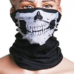 The Best Stylish Motorcycle Black Skull Mask / Wear Headgear Neck Skeleton Warming Face Warmer Cycling Goggles Bandana Balaclava Half Ski Skiing Winter Store Shop Item Stuff Protective Cheap Unique Mouth Full Motorbike Vespa Scooter Riding Biker Rider Fah