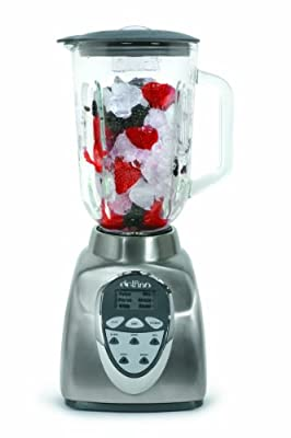 Delfino Digital Power Blender, 1-1/2-Quart, Stainless Steel with Glass Jar