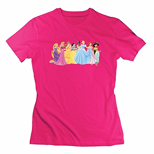 Disney Princess Customized Small Top Clothing Women Cotton Short For Pink (Disney Shirts Tie Dye compare prices)