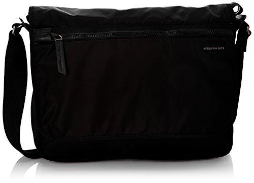 Mandarina Duck Studio 141elt13 - Bolsa mensajero unisex, color black 001, talla única