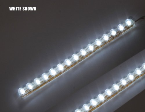 White 15Cm (6 Inch) Pvc Led Strip 15 Led Waterproof Flexible Pre-Wired (2 Pack)