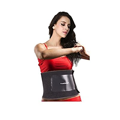 Feelingirl Classic Black Waist Trimmer Weight Loss Ab Belt and Workout Waist Trainer