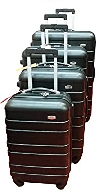 Travelight hard shell ABS four wheels spinner suitcase expandable trolley case
