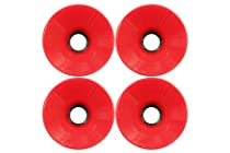70mm oldschool Longboard Wheels (Set of 4) red(scs-101015003012)