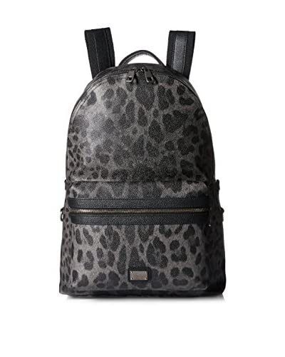 Dolce & Gabbana Men's Animalier Backpack, Grey/Black