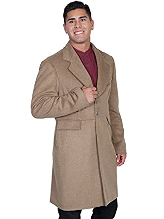Steampunk Men's Coats Scully Wool Blend Large Mens Frock Coat - Moss  AT vintagedancer.com
