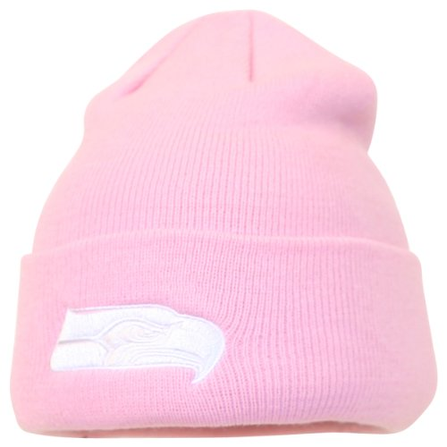 Seattle Seahawks Women's Pink Cuffed Winter Knit Hat at Amazon.com
