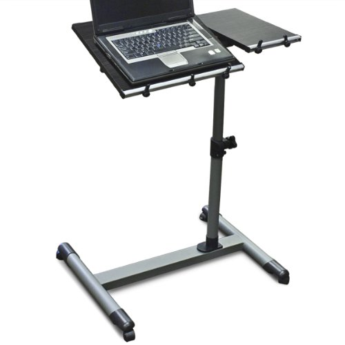 Wood Adjustable Rolling Computer Laptop Desk Computer Desk Educational Desk
